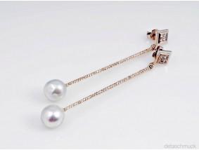 Ohrringe Ohrstecker Brillanten Zuchtperlen 585 Gold Wert: ca. 2.000,- EUR