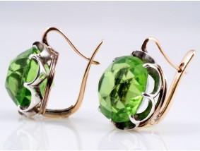 antike russische Ohrringe Altschliff Steinen 56 Zolotnik Silber