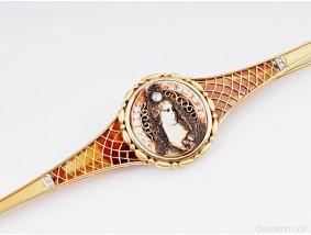 antike Juwelier Vallmitjana Brosche Diamanten 750 Gold 18 Karat