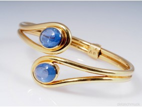 Marken Armband Armreif 12,00 Karat Ceylon Saphire 750 Gold 18 Karat