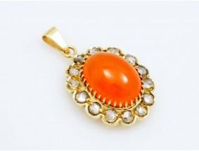 antiker Anhänger Diamanten Feuer Opal 585 Gold Wert: ca. 2.250,- EUR