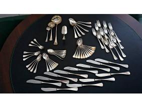 W.&S. Sorensen Denmark Ess Besteck 66 Teile 925 Sterling Silber