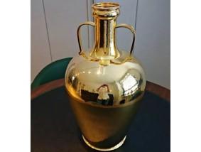 große Vase 925 Sterling Silber vergoldet ca. 6.945 Gramm Handarbeit