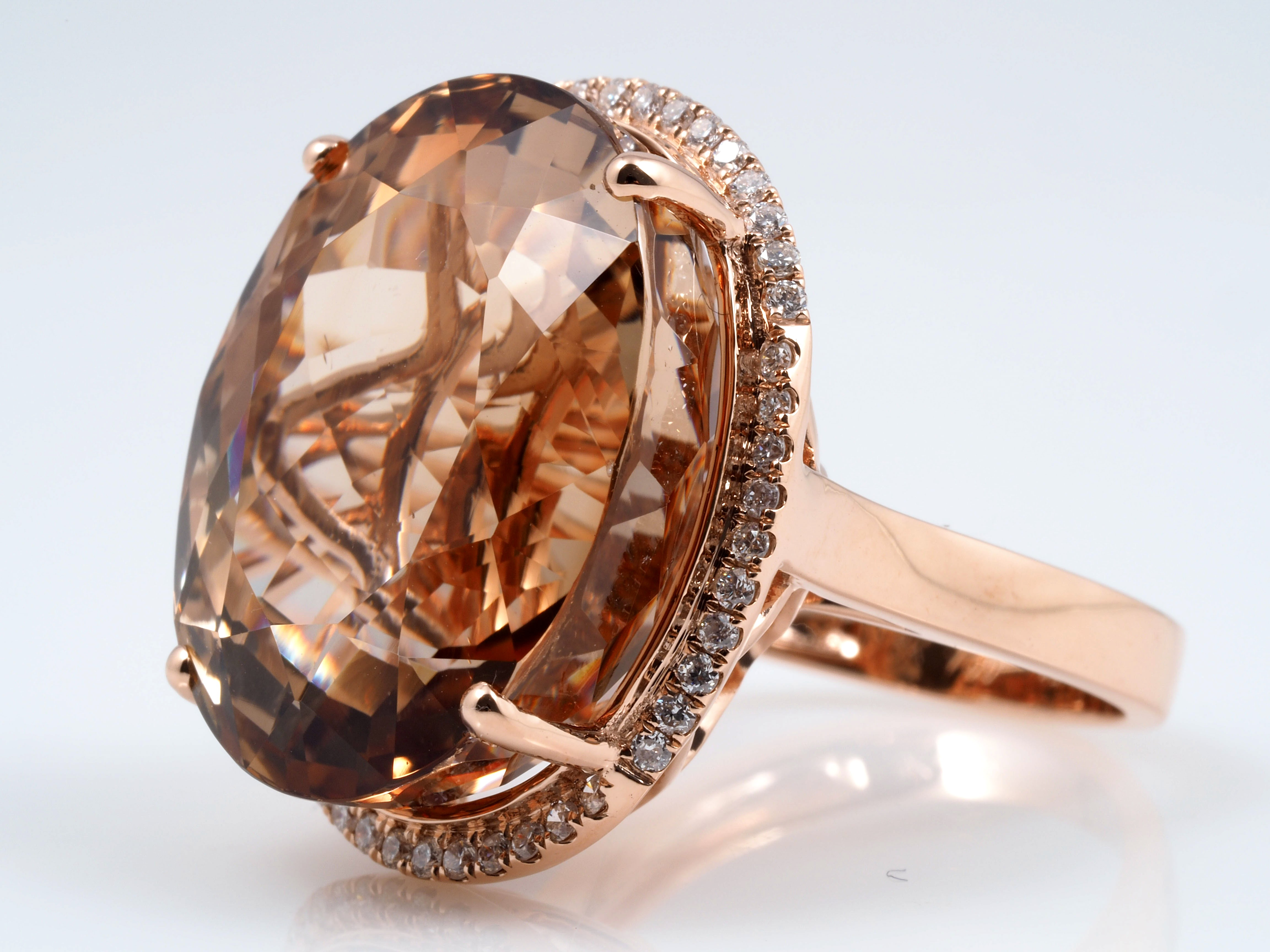 ring 43 21 karat brillanten imperial topas 750 gold wert ca eur ebay. Black Bedroom Furniture Sets. Home Design Ideas
