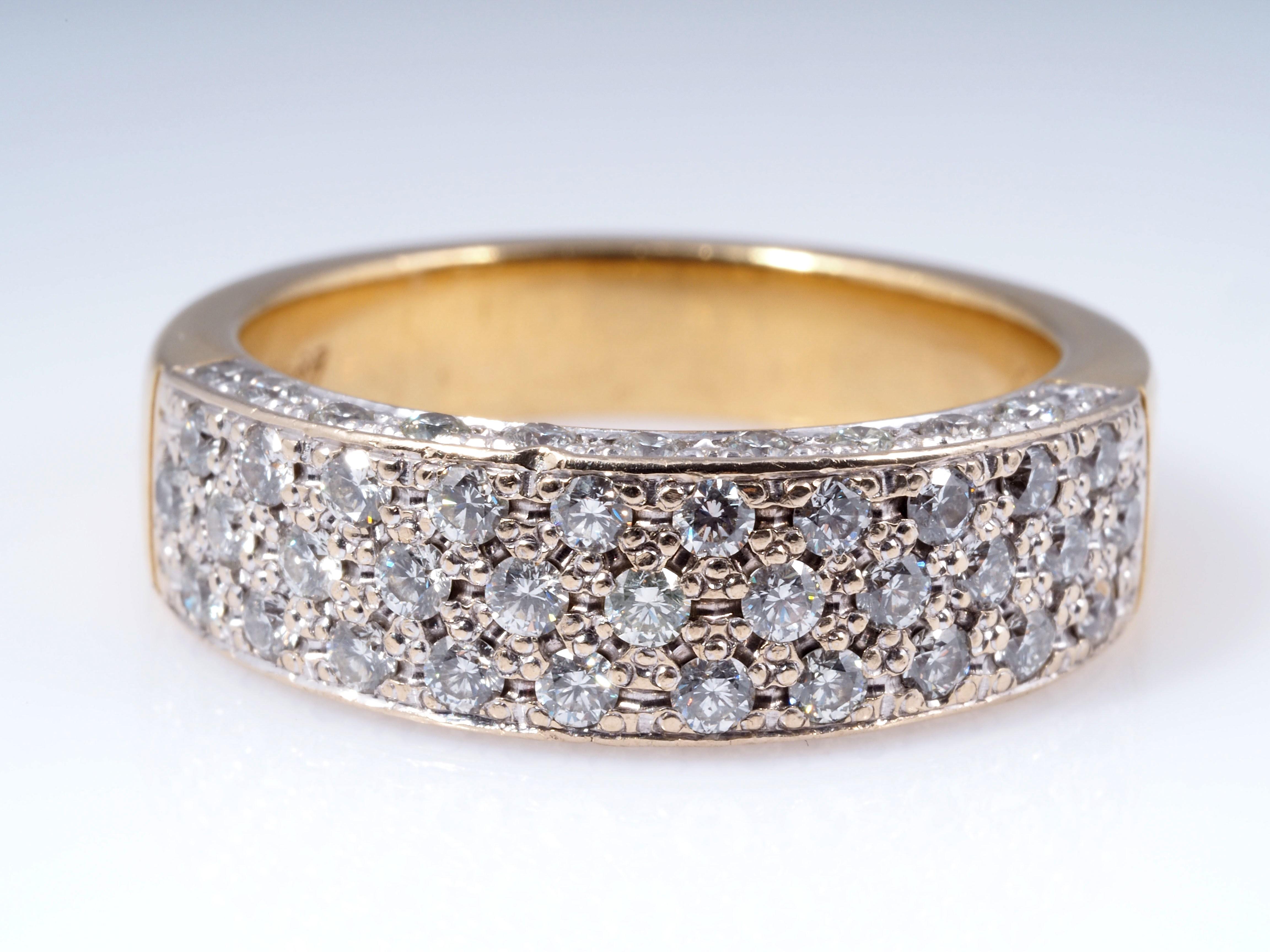 ring mit 0 84 karat brillanten 750 gold 18 karat ebay. Black Bedroom Furniture Sets. Home Design Ideas
