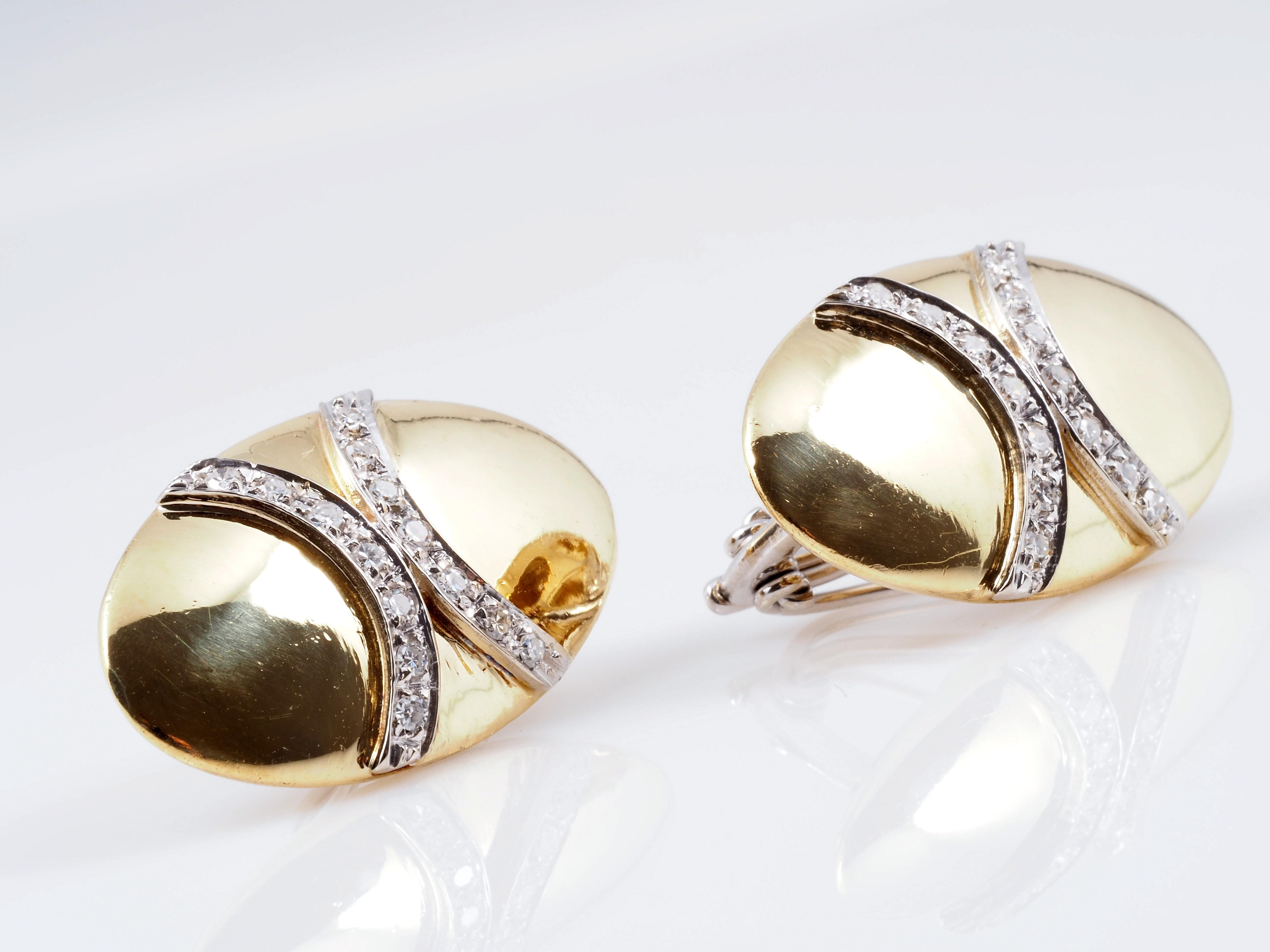 ohrringe ohrclips diamanten 750 gold wert ca eur ebay. Black Bedroom Furniture Sets. Home Design Ideas