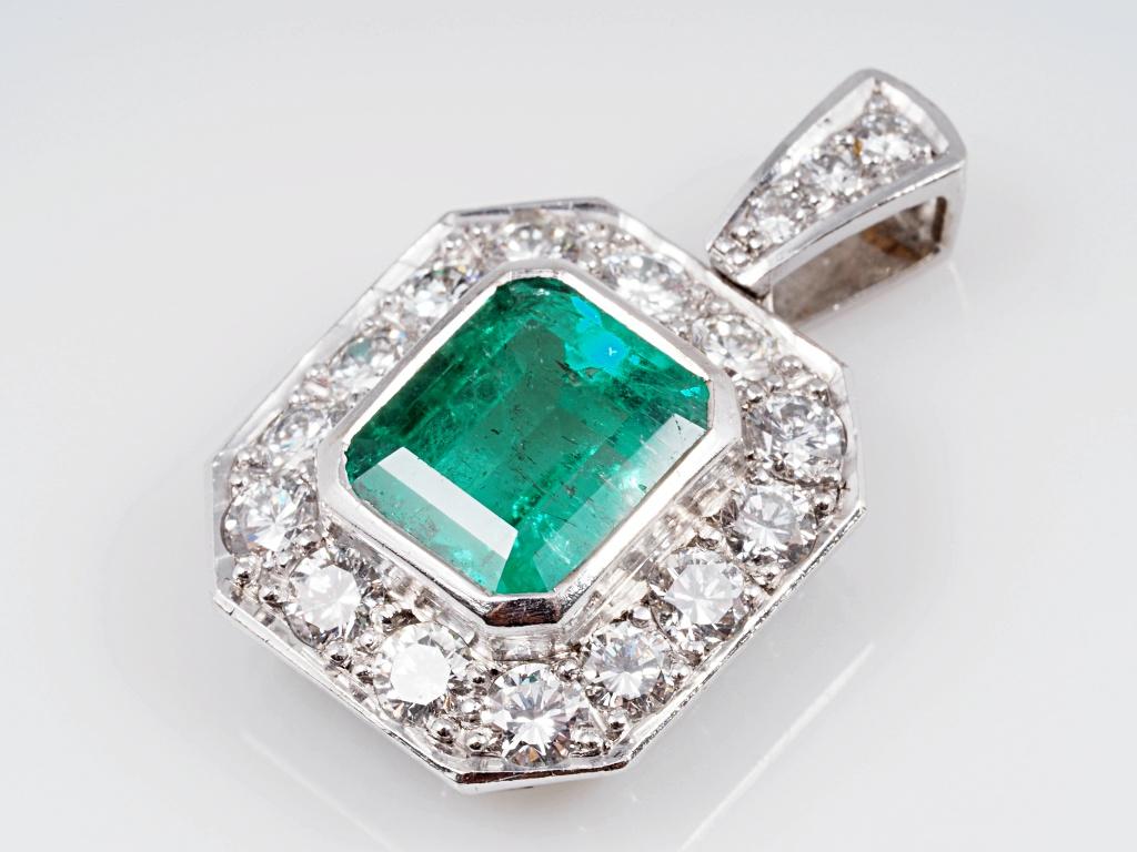 anh nger 3 60 karat smaragd brillanten 750 gold wert ca eur ebay. Black Bedroom Furniture Sets. Home Design Ideas