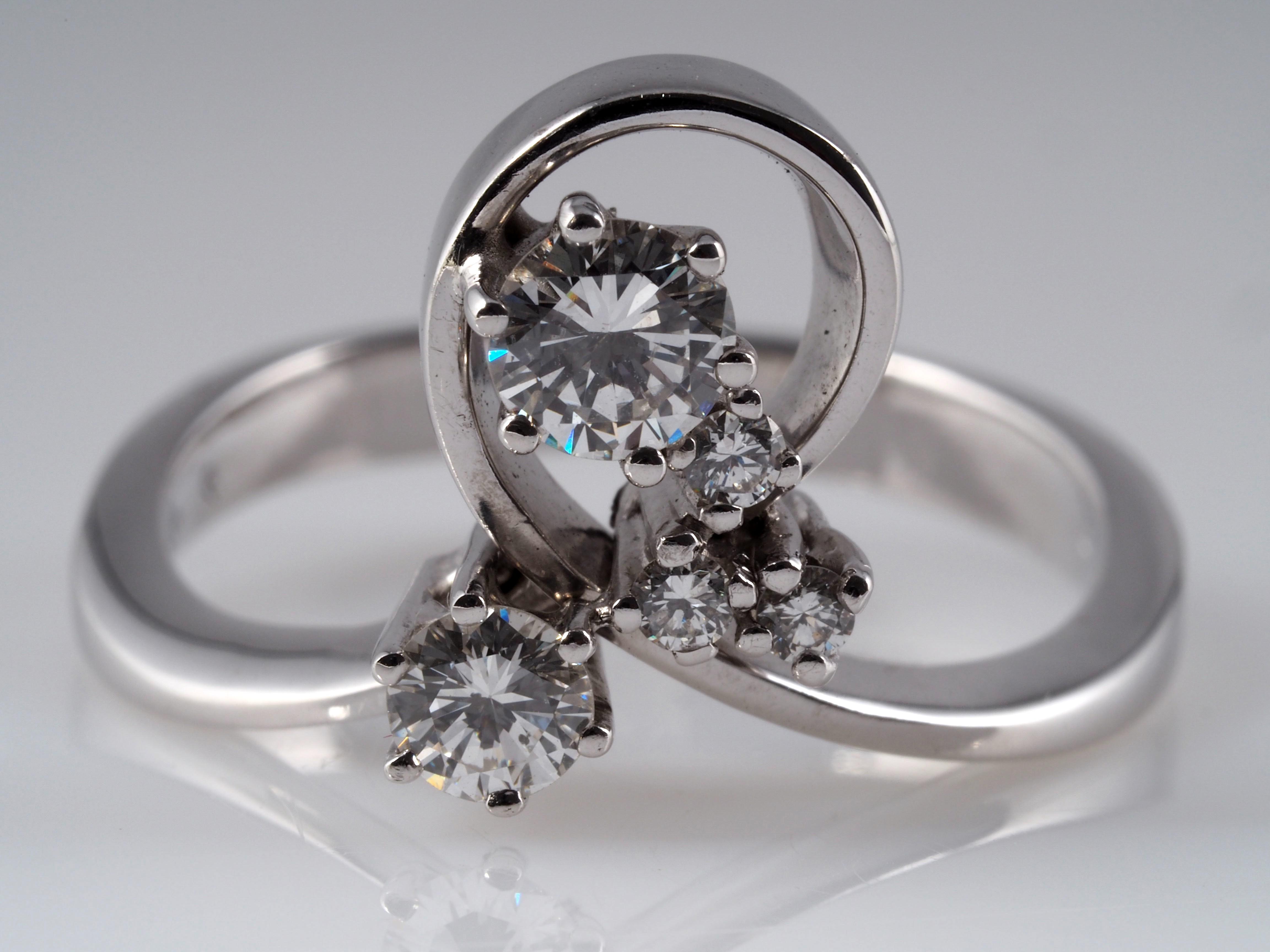 ring mit 0 46 karat brillanten 585 gold bucherer taxation wert eur ebay. Black Bedroom Furniture Sets. Home Design Ideas